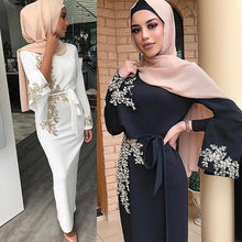 Load image into Gallery viewer, 2020 NEW ARRIVAL! Islamic Muslim Party Clothing Women Muslim Dress  Kaftan Abaya Slim Party Dresses Kaftan Abaya without Jilbab