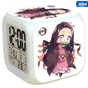 2020 Japanese Demon Slayer Kimetsu No Yaiba Model Led Alarm Clock Colorful Touch Light Anime Action & Toy Figures