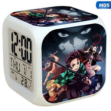 将图片加载到图库查看器,2020 Japanese Demon Slayer Kimetsu No Yaiba Model Led Alarm Clock Colorful Touch Light Anime Action & Toy Figures