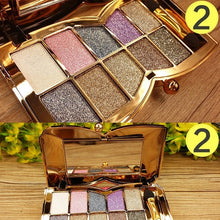 Load image into Gallery viewer, Fashion Shiny 10 Colors Diamond Waterproof Eye Shadow Palette