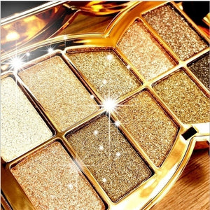 Fashion Shiny 10 Colors Diamond Waterproof Eye Shadow Palette