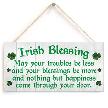 Load image into Gallery viewer, Irish Blessing Happiness Friendship Gift Plaque  House Sign