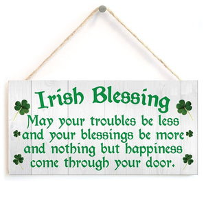 Irish Blessing Happiness Friendship Gift Plaque  House Sign
