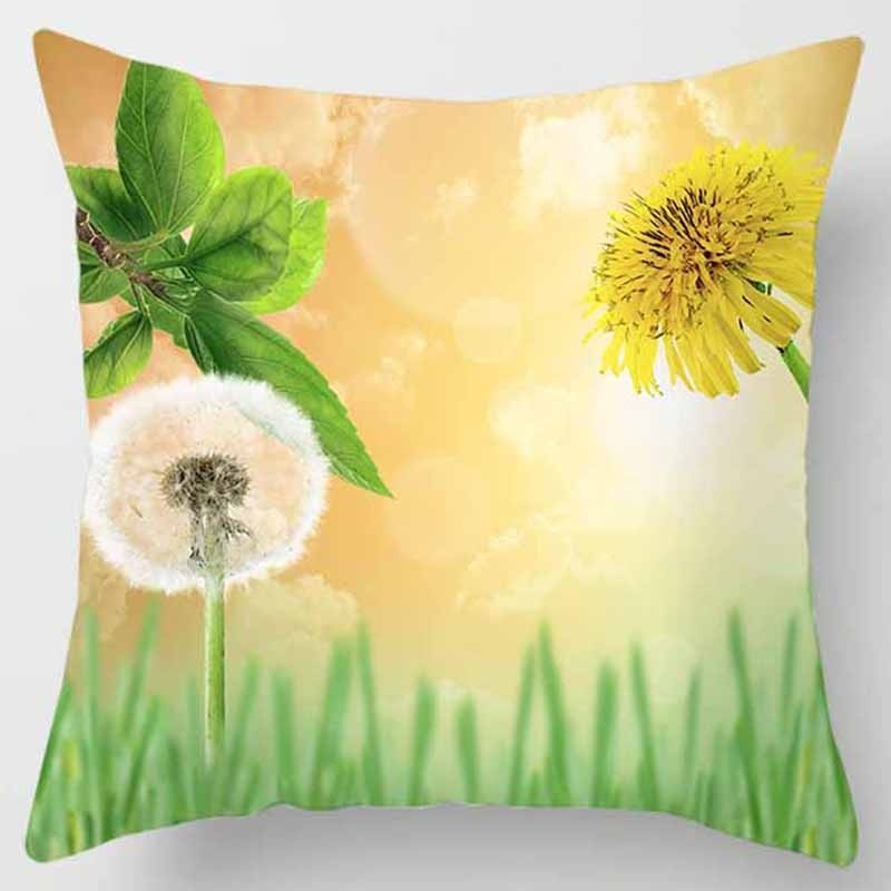 Dandelion. Printed pillowcase (45cm-45cm) (18 inches-18 inches)