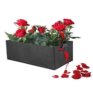 3PCS Raised Plant Bed Garden Flower Planter Elevated Vegetable Box Planting Grow Bag Fabric Garden Bed Rectangle Breathable Planting Container Grow Bag Planter Pot 4 sizes (3/2/1pcs)