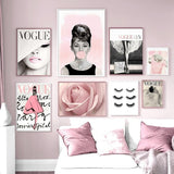 Eyelashes Fashion Wall Art Canvas Painting Nordic Posters and Prints Wall Pictures for Living Room Decor No Frame