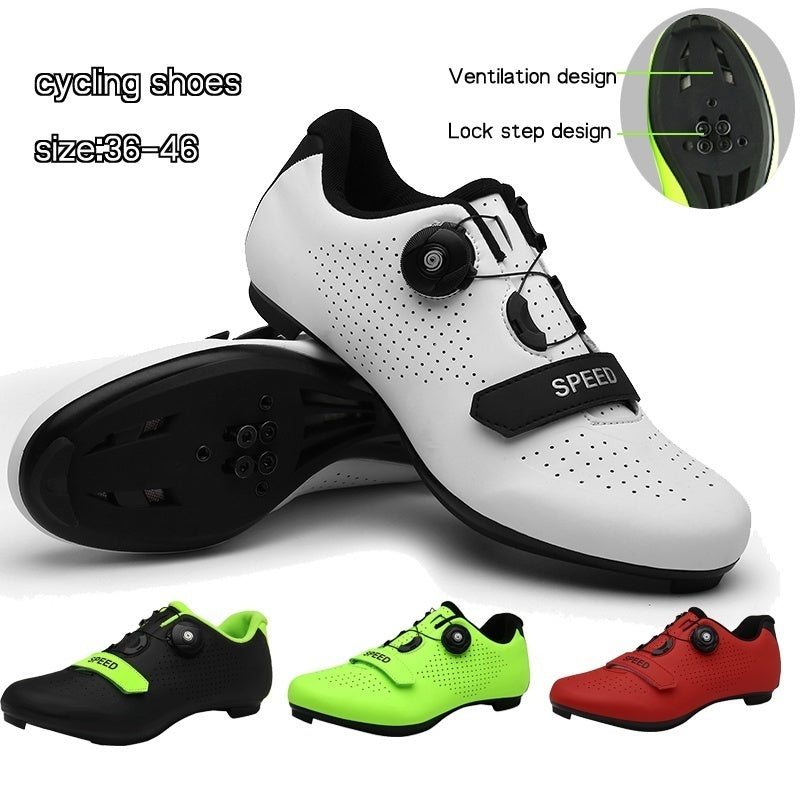 2020 New Fashion Bicycle Men's or Women's Road Cycling Riding Shoes - 1 Velcro Straps - Compatible with Peloton Shimano SPD & Look ARC Delta - Perfect for Indoor Spin Road Racing Bikes White