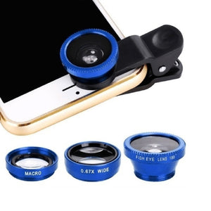 3-in-1 Multifunctional Phone Lens Kit Fish Lens+Macro Lens + Wide Angle Lens    QP