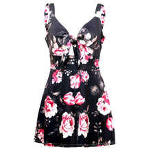 Load image into Gallery viewer, Summer Women's Straps Chest Bow Tie Printed Loose Romper Dress Floral Jumpsuit Shorts Strap Playsuit