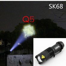 Load image into Gallery viewer, CREE T6 Led Flashlight 980000 Lumens Lighting Zoomable Torch 5 Modes 18650 Battery Outdoor Penlight