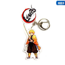 将图片加载到图库查看器,Anime Demon Slayer Kimetsu No Yaiba Keychain Tanjirou Nezuko Zenitsu Inosuke Cosplay Acrylic Key Chain For Fans Gift