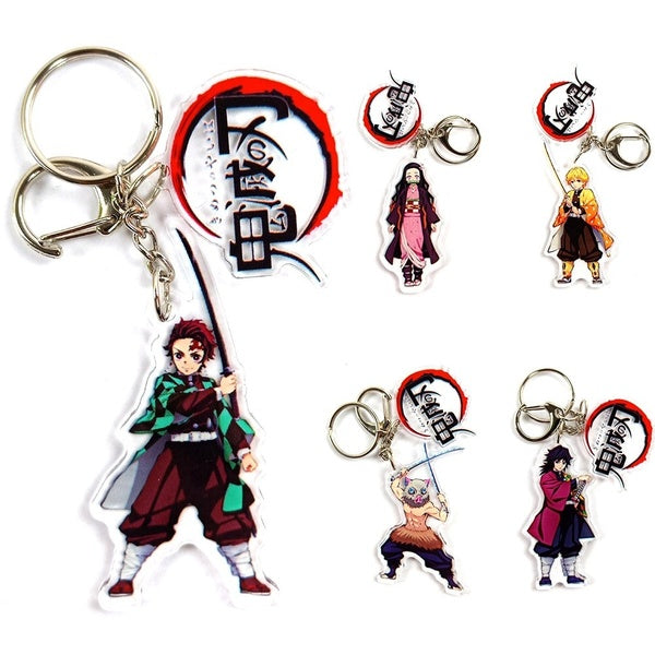 Anime Demon Slayer Kimetsu No Yaiba Keychain Tanjirou Nezuko Zenitsu Inosuke Cosplay Acrylic Key Chain For Fans Gift