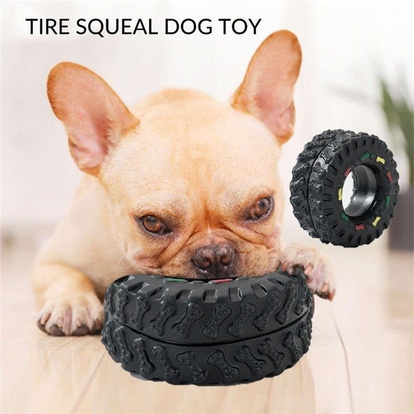 Cute Pet Dog Teeth Molar Toys For Small Large Dogs Tyre Tough Playing Training Puppy Cat Animals Pet Supplies