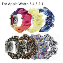 Load image into Gallery viewer, Women Scrunchie Elastic Watch Band for Apple Watch Band 38mm/42mm Casual Women Girls Strap Bracelet for Iwatch