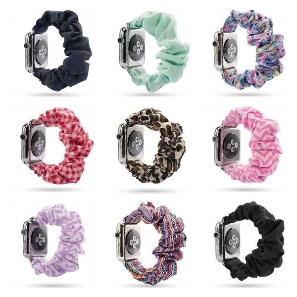 Women Scrunchie Elastic Watch Band for Apple Watch Band 38mm/42mm Casual Women Girls Strap Bracelet for Iwatch