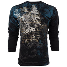Load image into Gallery viewer, Mens Cool 3D Printed AFFLICTION LONG SLEEVE T-Shirt CASCO Eagle BLACK Biker Mens Shirt