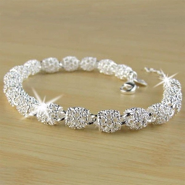 2020 New Ladies Elegant and Beautiful Silver Bracelet Bracelet Bracelet Bracelet Ladies Fashion Jewelry
