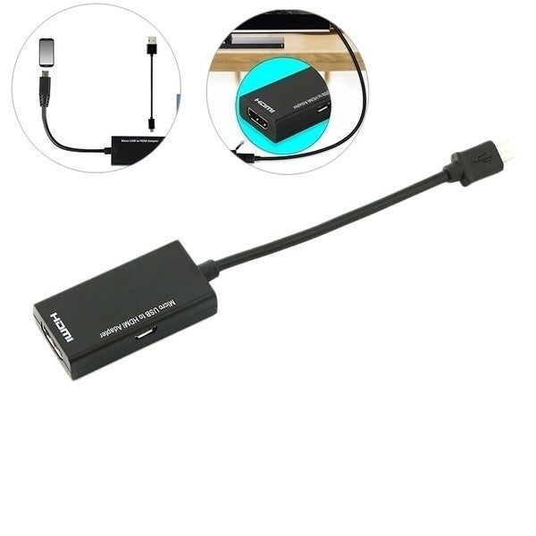 Mini Micro USB 2.0 MHL To HDMI Adapter Cable HD 1080P For Android Cellphone