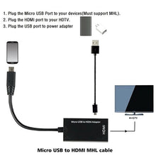 Load image into Gallery viewer, Mini Micro USB 2.0 MHL To HDMI Adapter Cable HD 1080P For Android Cellphone