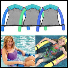 将图片加载到图库查看器,New Style 1PCS Polyester Floating Pool Noodle Sling Mesh Float Chair Net For Swimming Pool Party Kids Bed Seat Water Relaxation