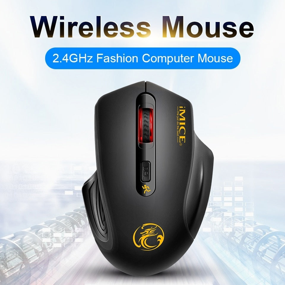 USB Wireless Mouse 2000DPI USB 2.0 Receiver Optical Computer Mouse 2.4GHz Ergonomic Mice For Laptop PC Sound Silent Mouse
