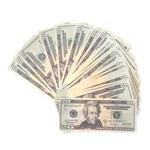 PROPS ONLY-100 Dollar prop reproduction Copy Prop Cash Bills Practice Training Paper for Movie, TV, Videos, Advertising & Show off (100) Pretend Money
