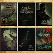 Load image into Gallery viewer, 30 Kind Jurassic Park Poster Dinosaur Movie Poster Kraft Photo Wallpaper Poster Decoration 42 X 29.7cm(11.6*16.5 Inch)