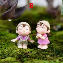 Load image into Gallery viewer, 6 Styles  Miniature Dolls Cute Couple Lovers Home Garden Ornaments Fairy Dollhouse Wedding Decorations