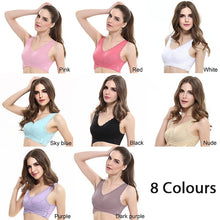 Load image into Gallery viewer, Woman Front Cross Side Buckle Wireless Lace Bra Breathable For Women Sport Yoga Push Up Bra Slimming Underwear Bralette Top Camisole Shapers Shapewear