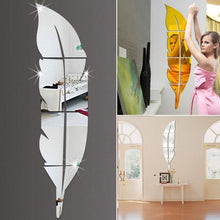 Load image into Gallery viewer, Modern Feather Mirror Decals Wall Sticker Removable Home Room DIY Decor