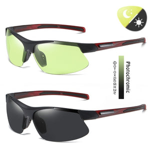 Outdoor Sunglasses Motorcycle Sunglasses Bicycle Riding Glasses Sport Photochromic Sunglasses Men Women Polarized Goggle Driving Glasses