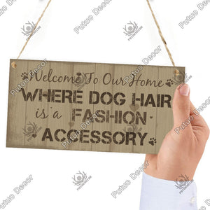 12 Kinds of Wooden Dogs Sign Hanging Plaques Signs Dog Lover Kennel Decoration 3.9'¡Á7.8'