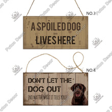 Load image into Gallery viewer, 12 Kinds of Wooden Dogs Sign Hanging Plaques Signs Dog Lover Kennel Decoration 3.9'¡Á7.8'