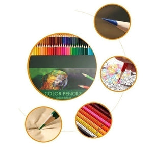 72 Colors Drawing Pencil Color Pencil Safe Non-toxic Oil Colored Pencil Lapis Decor Professionals Artist Color Pencils for Write Drawing Art Supplie Sendin school supplies back to school