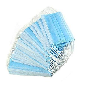 100/50/20Pcs Disposable 3-Layer Masks, Anti Dust Breathable Disposable Earloop Mouth Face Mask