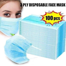Load image into Gallery viewer, 100/50/20Pcs Disposable 3-Layer Masks, Anti Dust Breathable Disposable Earloop Mouth Face Mask