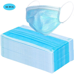 20/50Pcs Disposable 3-Layer Masks, Anti Dust Breathable Disposable Earloop Mouth Surgical Face Mask Medical mask