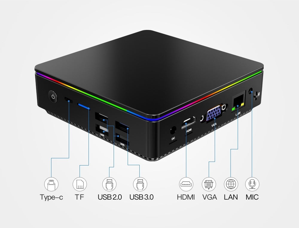 Newest T95 P1 Mini PC Computer Host 4+64G X5-Z8350 4G DDR3 Windows 10 Bluetooth VGA 4 USB Office Games Computer Portable desktop Host