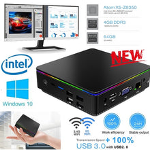 Load image into Gallery viewer, Newest T95 P1 Mini PC Computer Host 4+64G X5-Z8350 4G DDR3 Windows 10 Bluetooth VGA 4 USB Office Games Computer Portable desktop Host