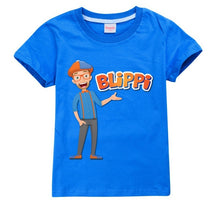 Load image into Gallery viewer, BLiPPi Cartoon Printed Cool Children T-shirt Summer Fashion Casual Short Sleeve Cotton Tee Shirt Blouse