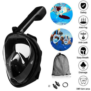 2020 New 6 Colors High Quality Child Adult Silicone Diving Mirror Anti Fog Detachable Dry Snorkeling Full Face Mask Set Scuba Diving Mask