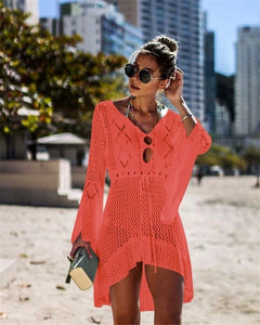 New Women's Fashion Summer Swimsuit Bikini Beach Swimwear Cover up Sunscreen Coat