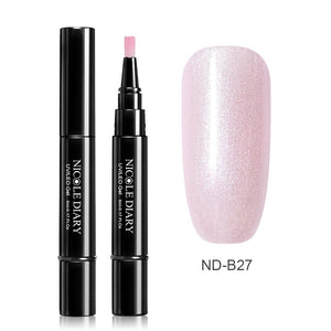 NICOLE DIARY 3 In 1 Nail Gel Pen Rose Gold Gel Nail Polish Pencil