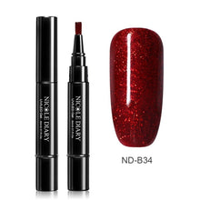 Load image into Gallery viewer, NICOLE DIARY 3 In 1 Nail Gel Pen Rose Gold Gel Nail Polish Pencil