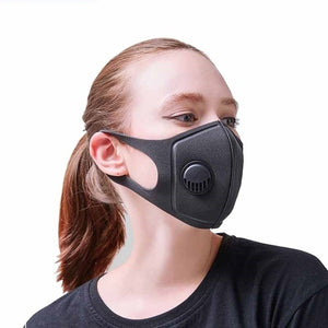 Unisex Anti Pollution Mask Dust Respirator Washable Reusable Masks  for Allergy/Asthma/Travel/ Cycling
