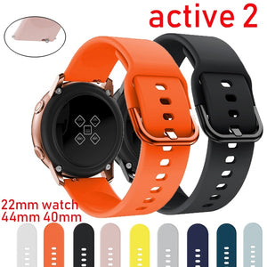 For Galaxy Watch Active 2 for Samsung galaxy watch 44mm 40mm watch strap Huawei Watch 2 pro Gear sport bracelet band 42mm 20mm