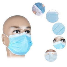 Load image into Gallery viewer, 100/50/20 Pcs Strong Protection Masks Disposable Face Masks/3-Ply Disposable Face Mask Surgical Mask Dust Breathable Earloop Face Mask