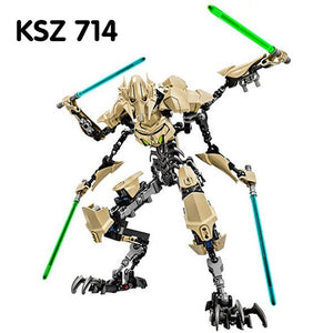 KSZ 714 General Grievous Star Wars Doll Artifacts Movable Assembling Building Block Toys