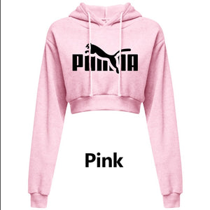 Womens Cropped Hoodie Short Sweatshirt Plain Pullover Hooded Crop Tops Sexy Casual Long Sleeve Hooded