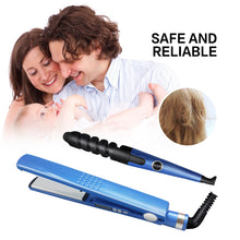 Load image into Gallery viewer, Multifunction Hair Styling Tool Flat Iron - Spiral Curling Iron - Hair Comb,Blue